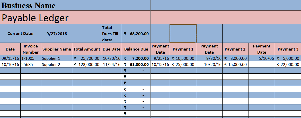 download accounts payable excel template