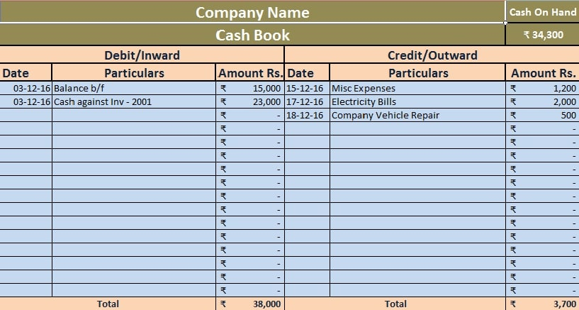 Download free accounting templates in excel download simple cash book excel template flashek