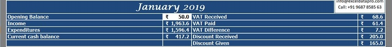 Cash Book With Discount and Tax