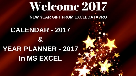 Download Calendar 2017 & Year Planner in Excel
