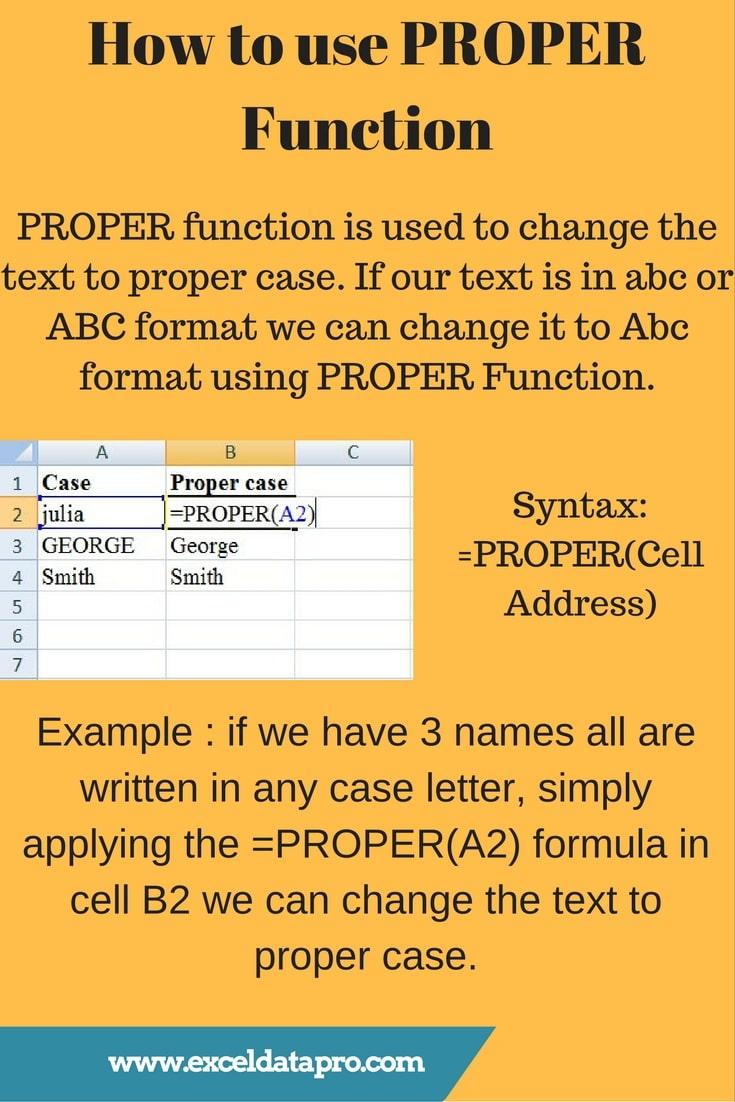 PROPER Function