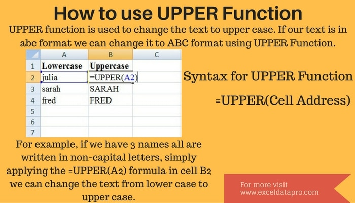 How To Use: UPPER Function