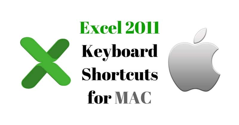 Microsoft Excel 2011 Keyboard Shortcuts for MAC