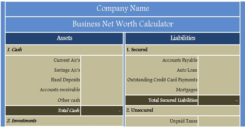 Download business net worth calculator excel template exceldatapro download business net worth calculator excel template wajeb Images