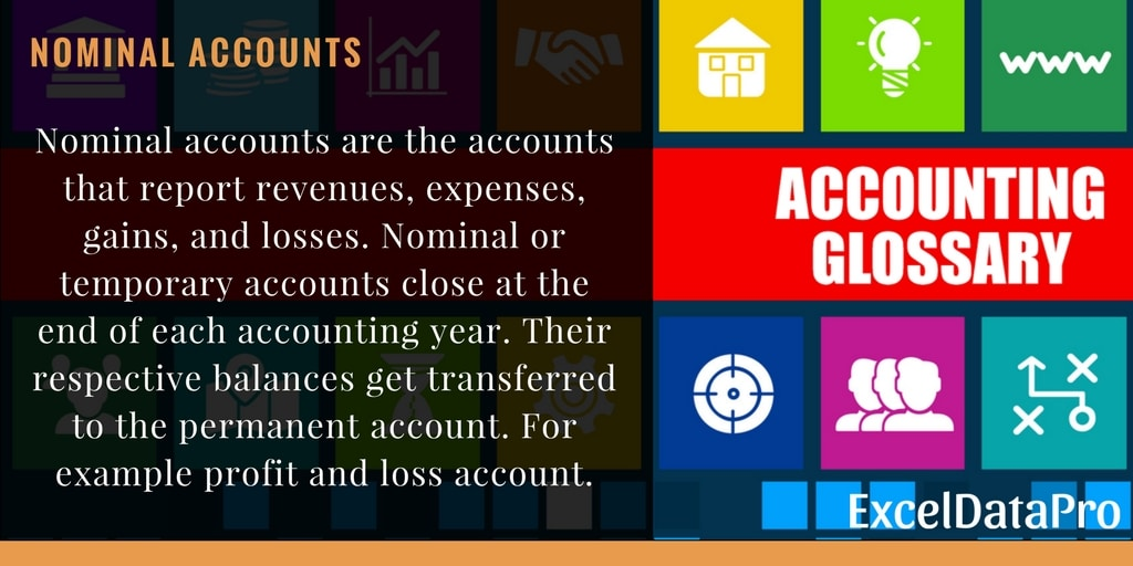 What is Nominal Account?