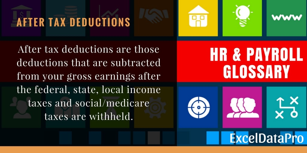 What is After Tax Deductions?