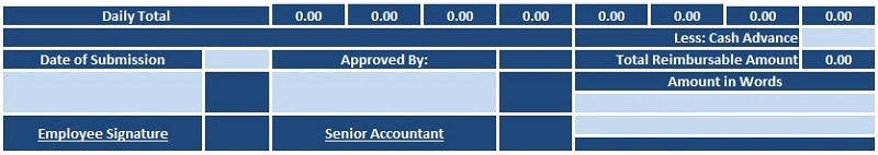 TA Reimbursement Template