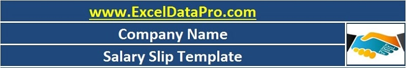 download corporate salary slip excel template exceldatapro