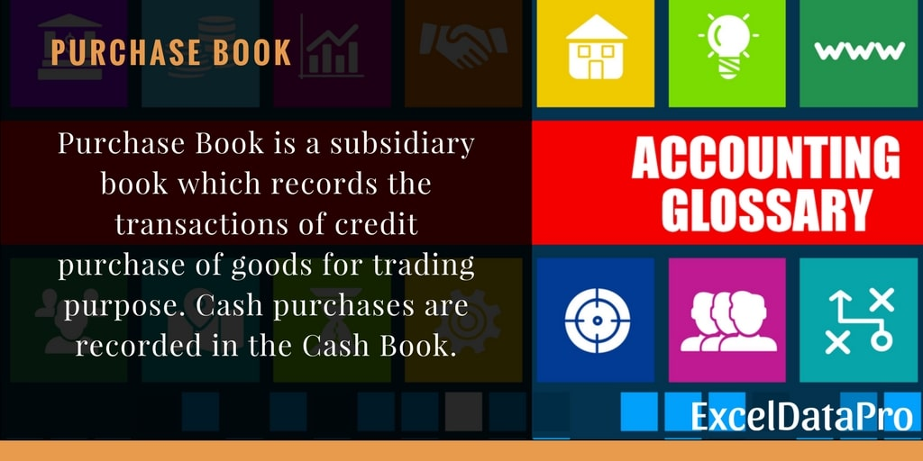 What is Purchase Book?
