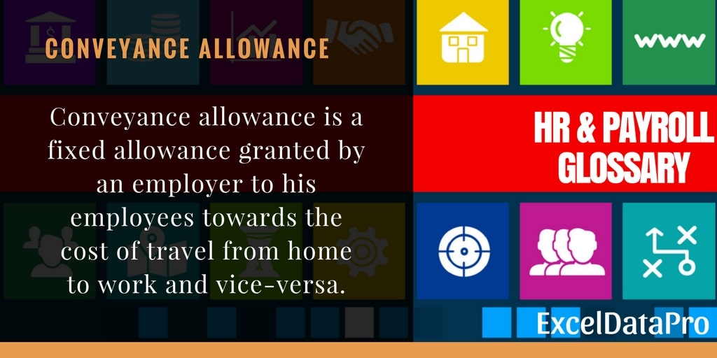 What is Conveyance Allowance?