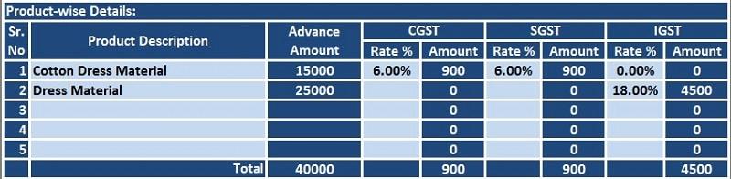 GST Receipt Voucher Excel Template