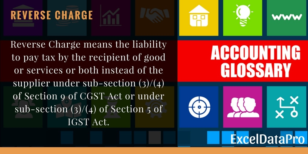 What is Reverse Charge Under GST?