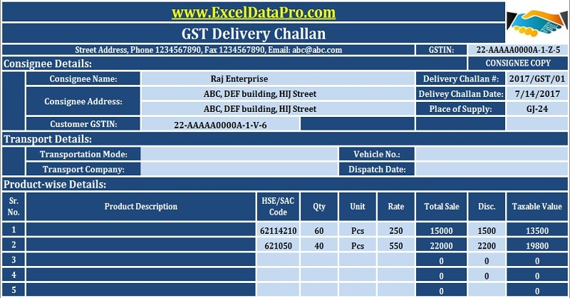 Jeep Wrangler Invoice Excel Download Gst Delivery Challan Format In Excel For Transportation  Letter For Past Due Invoice Pdf with Airport Parking Receipt Excel Download Gst Delivery Challan Format In Excel For Transportation Of Goods  Without The Tax Invoice Msrp Invoice Excel