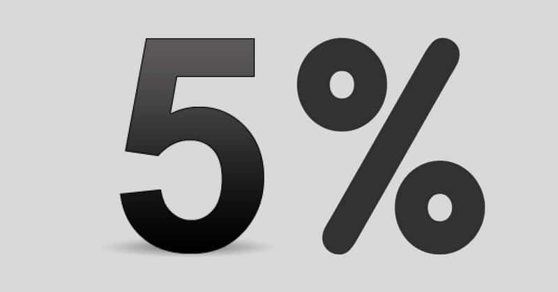 5 Percent GST Rate