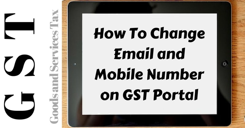 Change Email and Mobile Number