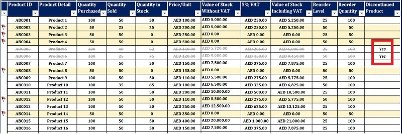 UAE VAT Inventory Management