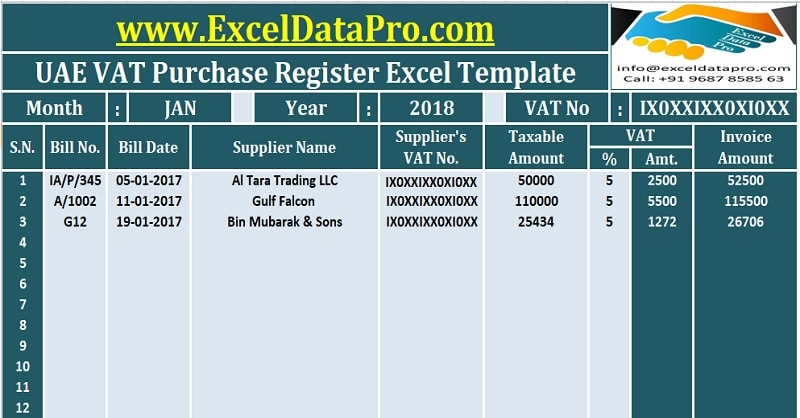 invoice template with vat