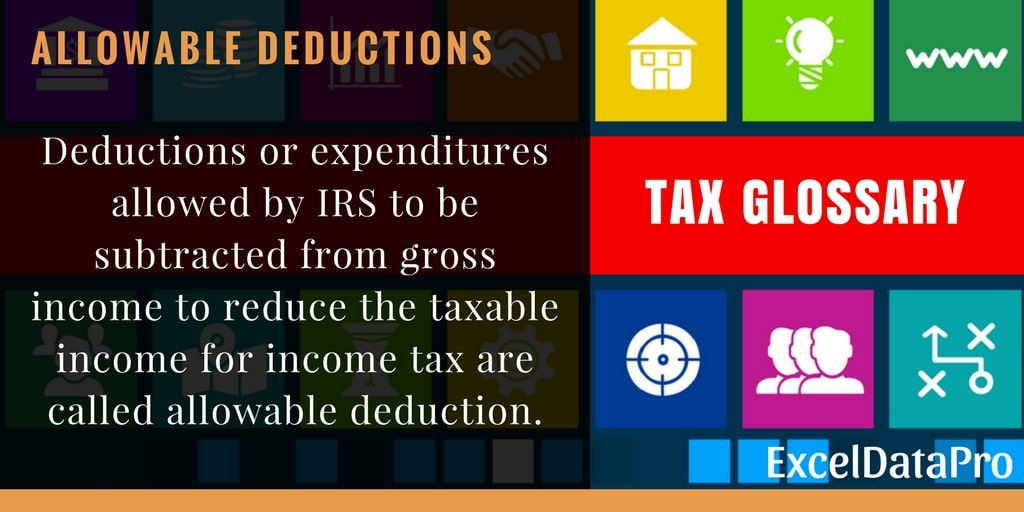 What Are Allowable Deductions?