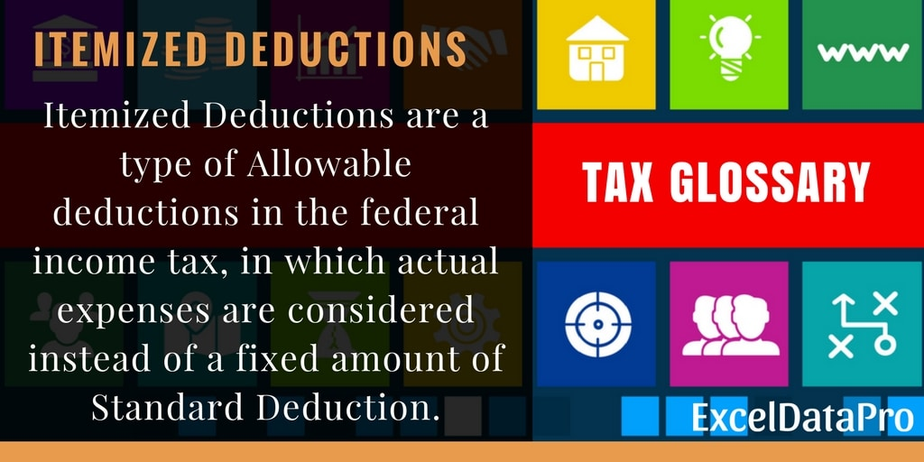What Are Itemized Deductions?