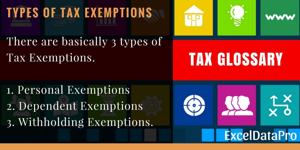 personal exemptions on taxes