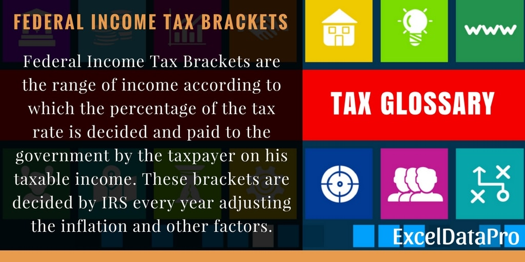 Federal Income Tax Brackets For The Year 2017