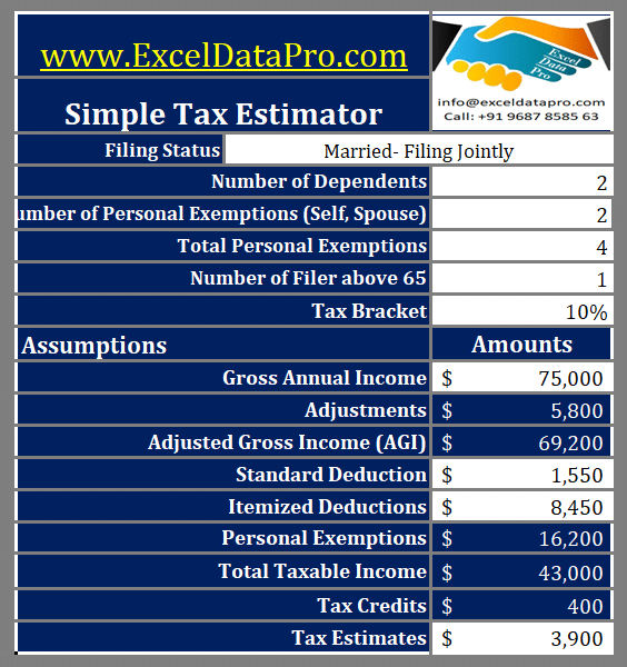 Simple Tax Estimator