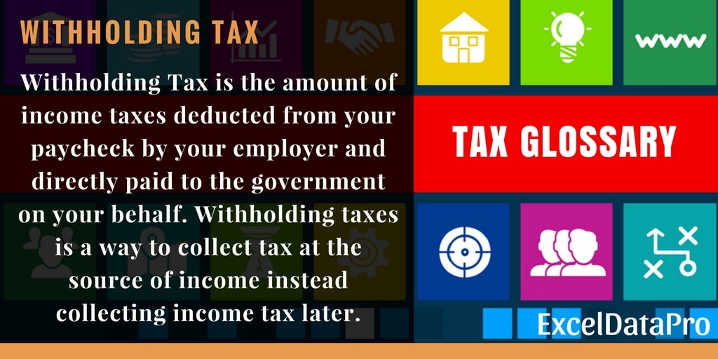 What is Withholding Tax? – Federal Income Tax