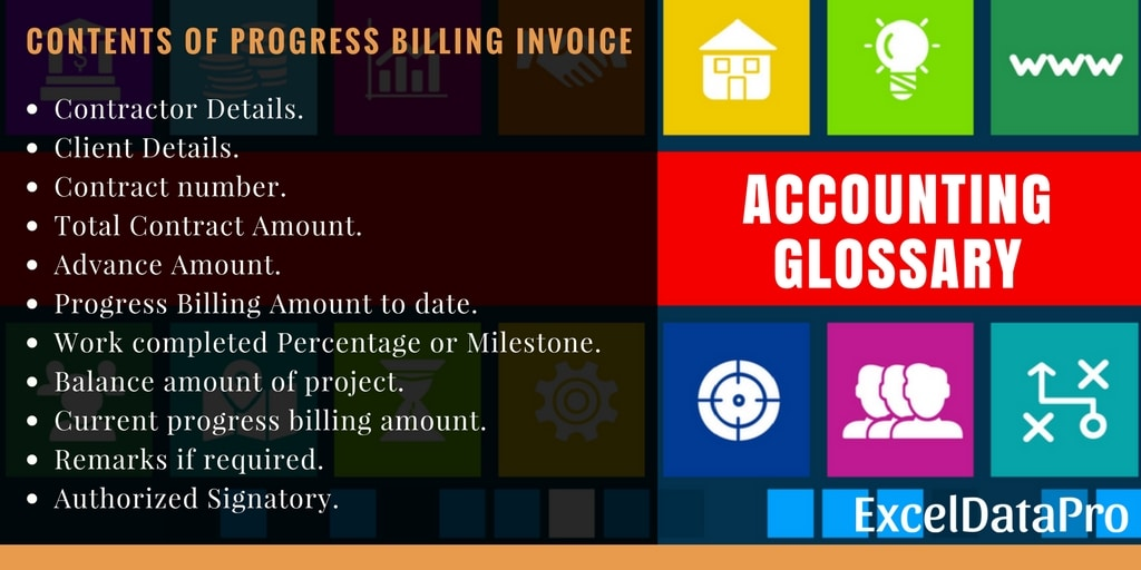 Progress Billing Invoice