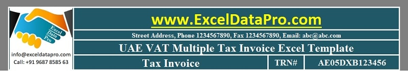 UAE VAT Multiple Tax Invoice