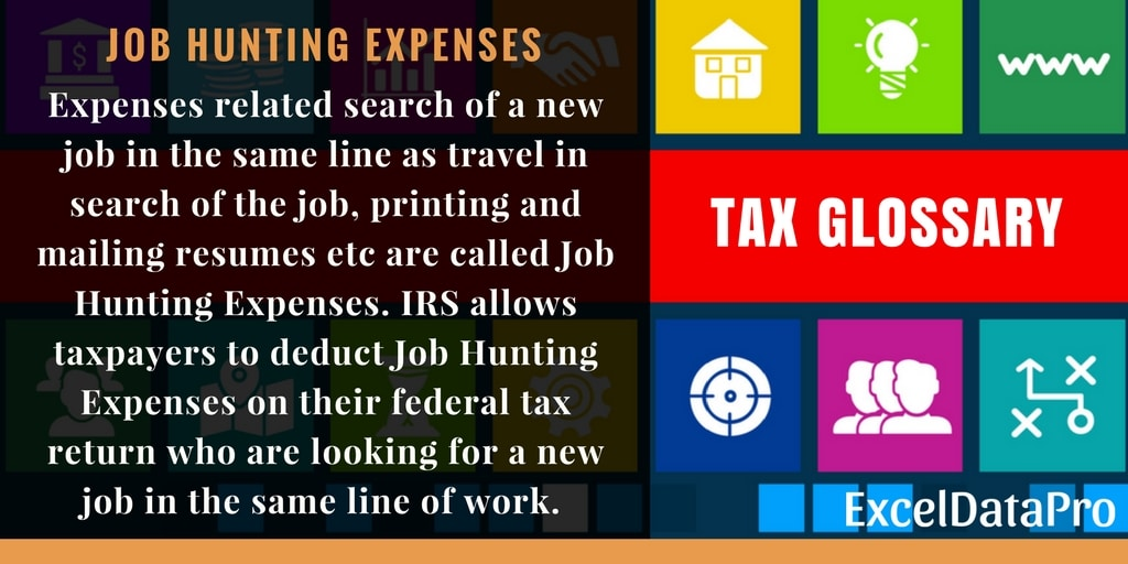 What Are Tax Deductible Job Hunting Expenses?
