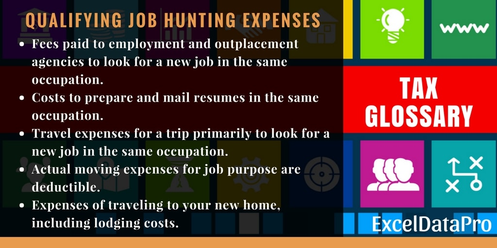 Joh Hunting Expenses