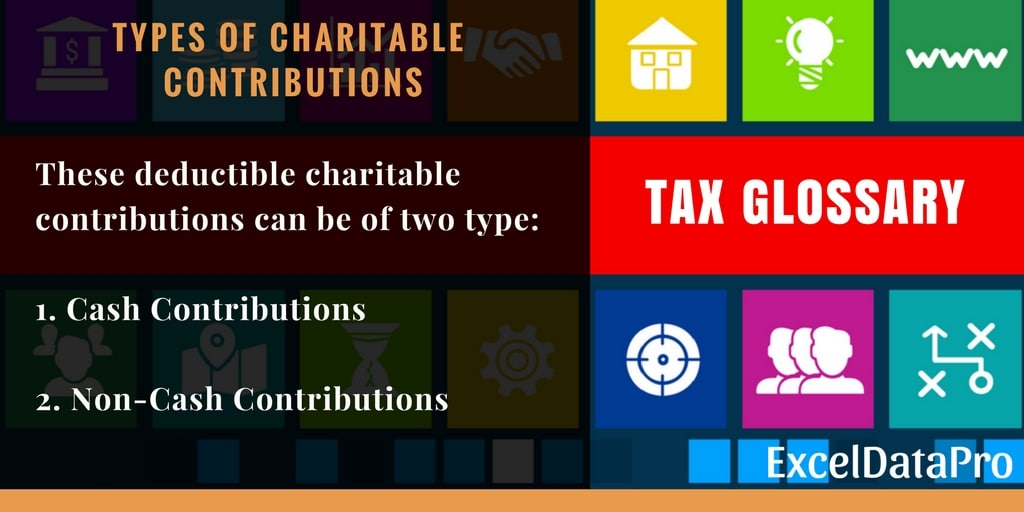 Charitable Donations Deductions