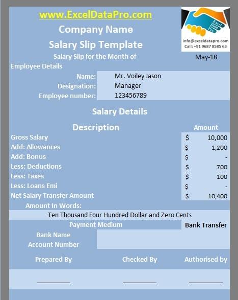 Salary Slip Templates