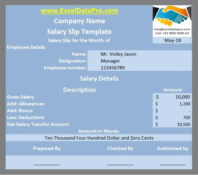 Salary Slip Templates