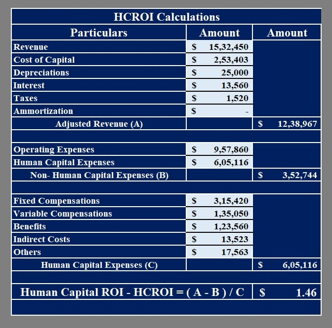Human Capital ROI Calculator