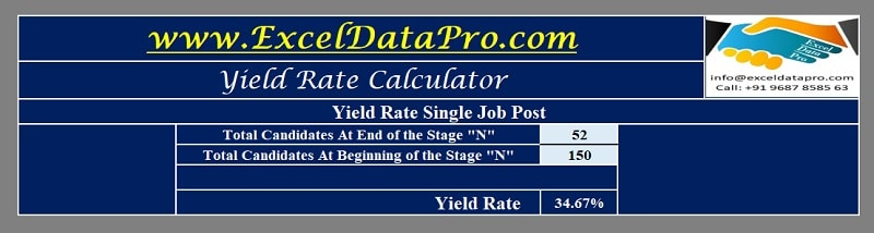 Yield Rate Calculator