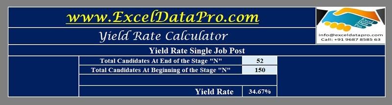 Yield Rate Calculator