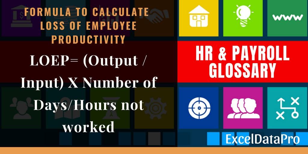 Loss of Employee Productivity