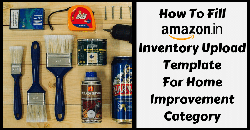 Amazon Template in Excel for Home Improvement