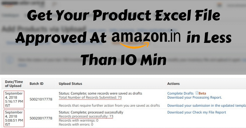How to approve your excel template in one shot at amazon