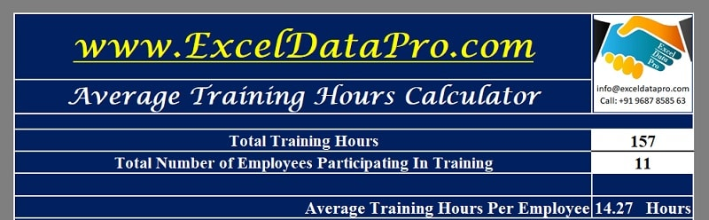 Average Training Hours Calculator