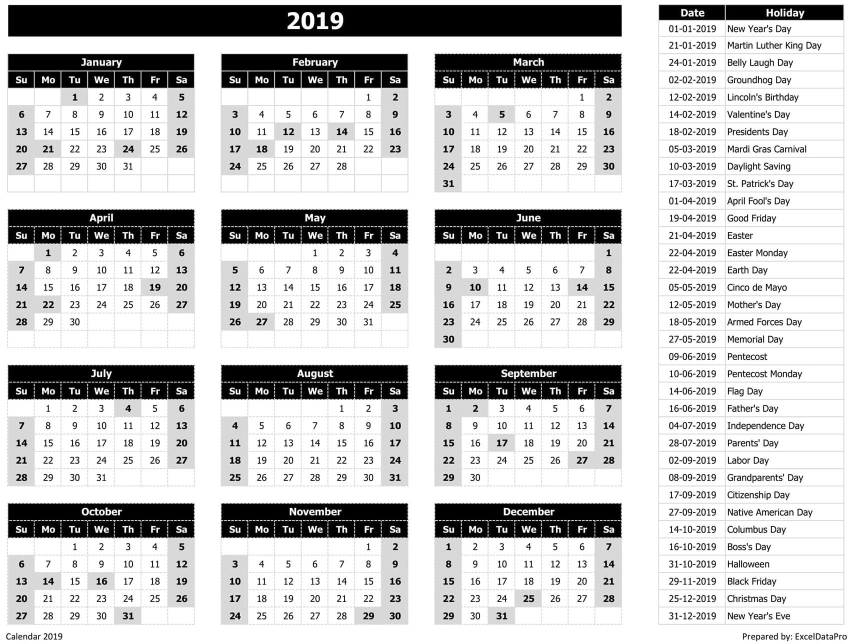 Download Kalender 2019 Karakter