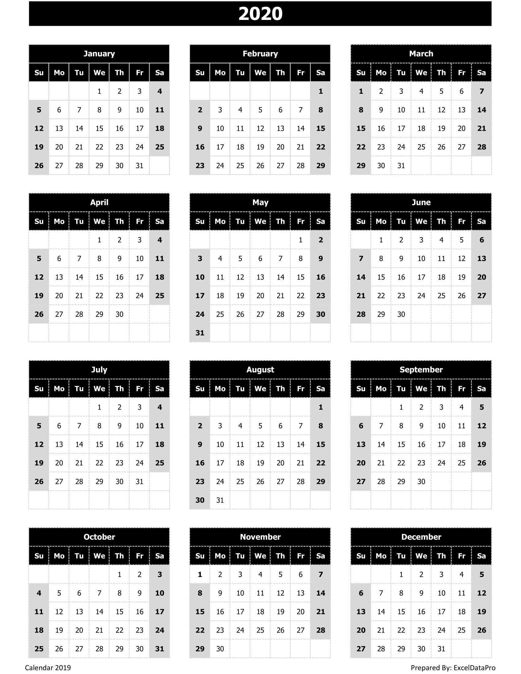 It is a graphic of Juicy 2020 Printable Calander
