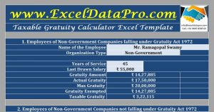 Taxable Gratuity Calculator