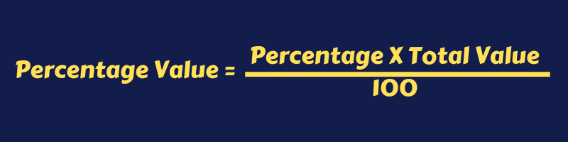 Formula To Calculate Percentage Value