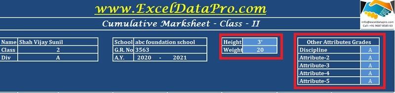Class-Academic Data