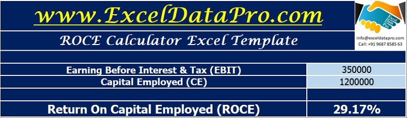 ROCE Calculator Excel Template