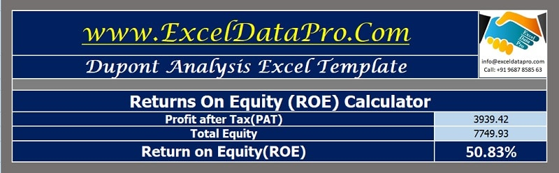 ROE Calculator with DuPont Analysis