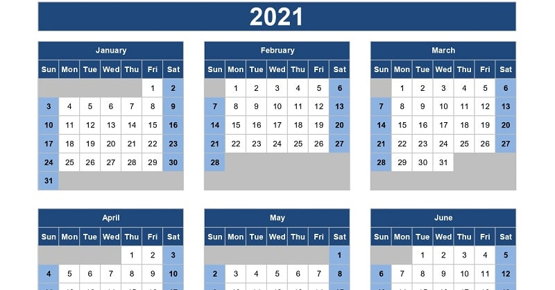 Download Free Yearly Calendar Templates In Excel