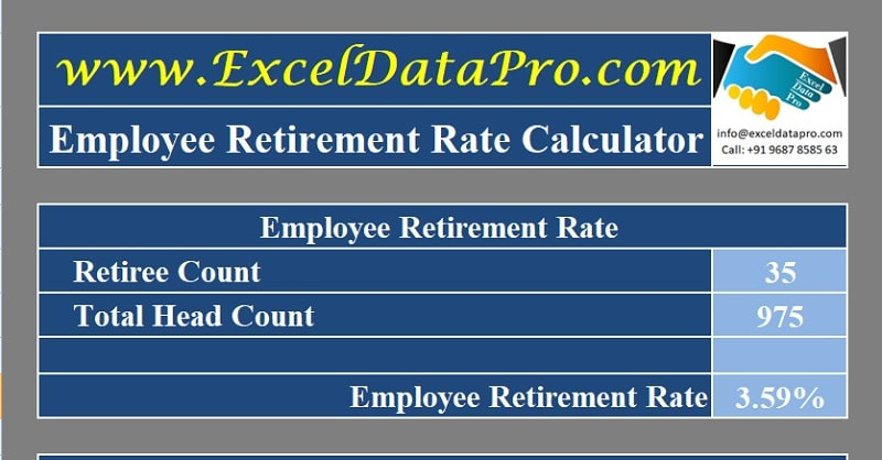 Download Employee Retirement Rate Calculator Excel Template